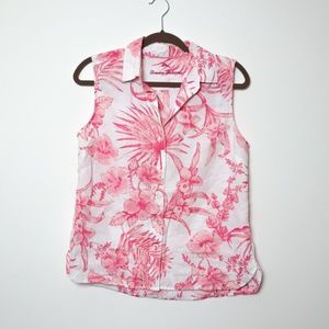 Tommy Bahama | Linen Sleeveless Hawaii Blouse S